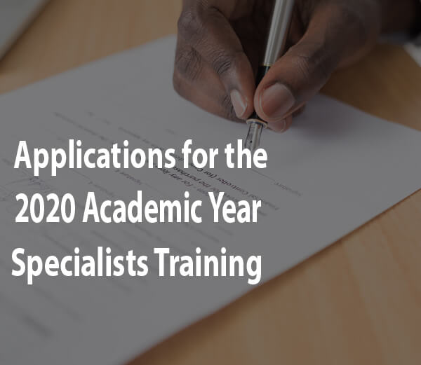 Applications ofr the 2020 Academic Year ZACOMS