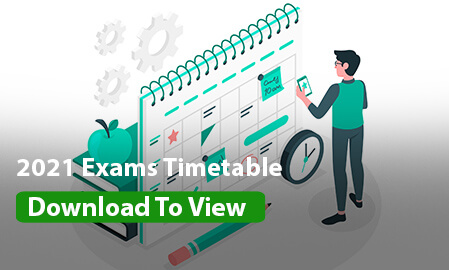 2021 ZACOMS Exams Timetable